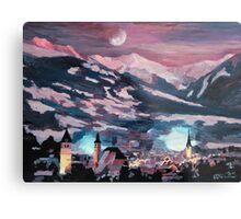 The Kitzbuehel Moon Metal Print