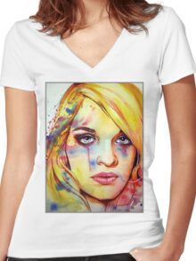 Jemma (VIDEO IN DESCRIPTION!!) Women's Fitted V-Neck T-Shirt