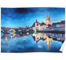 Regensburg - Reflections at Dawn Poster
