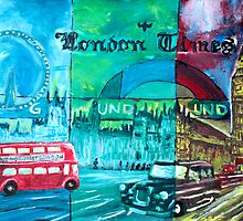 London - Bus and Big Ben  - UK by artshop77