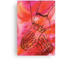 Mehndi Feet Canvas Print