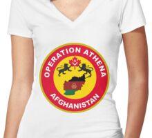 Operation Athena Logo Women's Fitted V-Neck T-Shirt