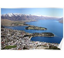 Aerial of Queenstown NZ Poster