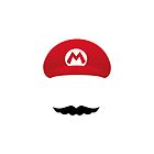 Mario Hat &amp; Moustache by YingDude