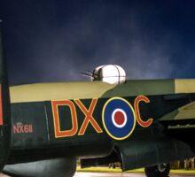 Avro Lancaster B.VII NX611 G-ASXX Floodlit Sticker