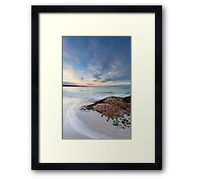 Round Hill Point Sunset, Bay of Fires, Tasmania Framed Print