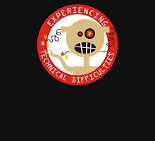 Robot head experiencing technical difficulties Womens Fitted T-Shirt