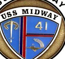 USS Midway (CVB/CVA/CV-41) Crest for Dark Sticker