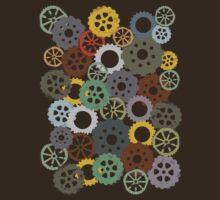 Colorful steampunk machine gears by BigMRanch