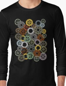 Colorful steampunk machine gears Long Sleeve T-Shirt