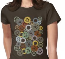 Colorful steampunk machine gears Womens Fitted T-Shirt