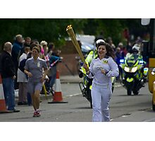 Olympic Torch, Thatcham Photographic Print