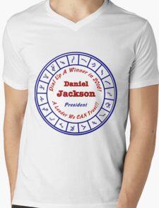 Daniel Jackson: A Man For the Times Mens V-Neck T-Shirt