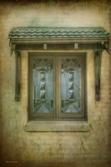 Quaint Window by Elaine Teague