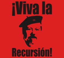 Dennis Ritchie: ¡Viva la Recursión! - Black on Red Design for Programmers One Piece - Long Sleeve