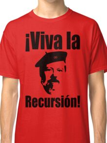 Dennis Ritchie: ¡Viva la Recursión! - Black on Red Design for Programmers Classic T-Shirt