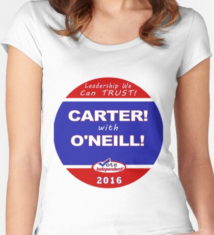 Carter - O'Neill for President Women's Fitted Scoop T-Shirt