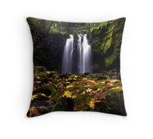 How Great it Is ~ McDowell Creek Falls ~ Throw Pillow