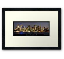 Sydney Skyline at night Framed Print