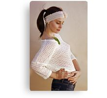 Pretty Knits and a Ponytail Canvas Print