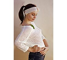 Pretty Knits and a Ponytail Photographic Print