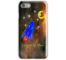 Rocket Ship to the Moon iPhone case design iPhone Case/Skin