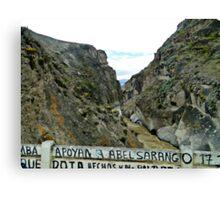 River Canyon in Yunguilla Canvas Print