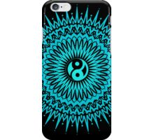 taizha yin yang mandala blue iPhone cover iPhone Case/Skin