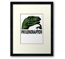 Philosoraptor Framed Print