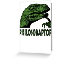 Philosoraptor Greeting Card