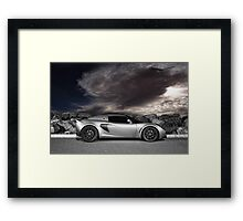 Exige - painted with light - 1 of 2 Framed Print