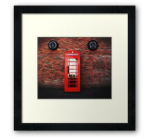 Old Bushmills Telephone Box Framed Print