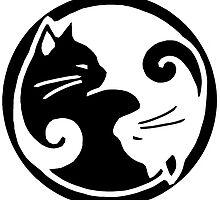 Tao of Meow Dark T-Shirt by Barbara McConkey