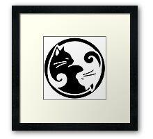 Tao of Meow Dark T-Shirt Framed Print