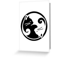 Tao of Meow Dark T-Shirt Greeting Card