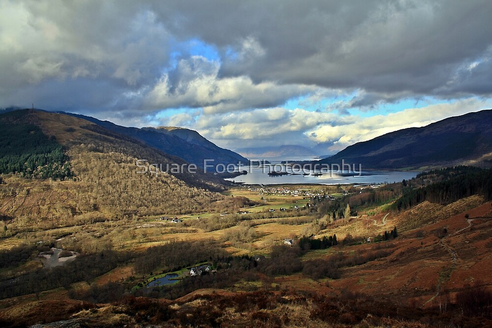 Glencoe Village on a moody day by Arkaig