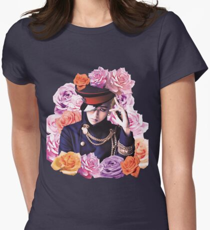 GD n Roses Womens Fitted T-Shirt