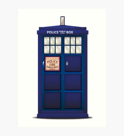 British Police Box Art Print