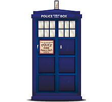 British Police Box Photographic Print