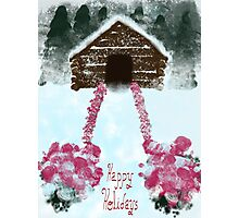 cabin happy holidays Photographic Print