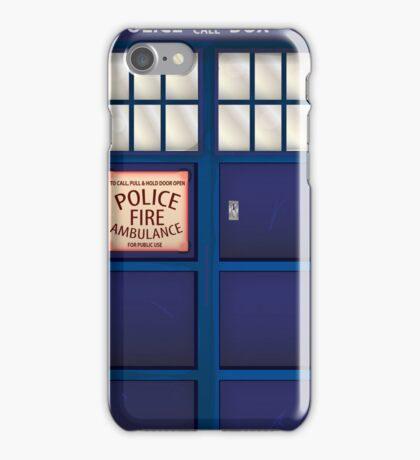 British Police Box iPhone Case/Skin