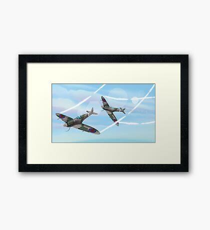 WW2 Vintage British fighter Aircraft Framed Print