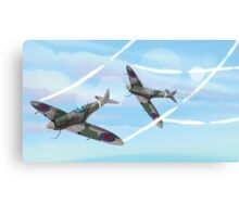 WW2 Vintage British fighter Aircraft Canvas Print