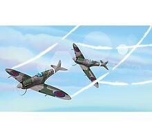 WW2 Vintage British fighter Aircraft Photographic Print