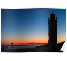 Sunset Lighthouse - Empire, Michigan Poster