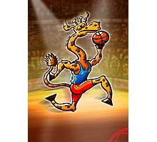 Olympic Basketball Giraffe Photographic Print