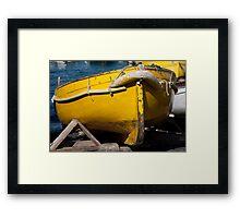 Rusty Yellow Framed Print