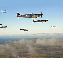 Spitfire - Squadron Inbound  by warbirds