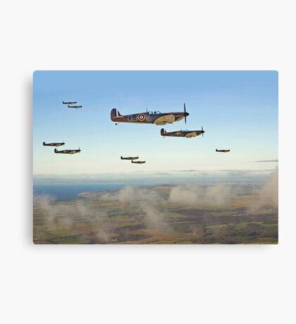 Spitfire - Squadron Inbound  Canvas Print