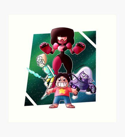 Steven Universe - Crystal Gems Art Print